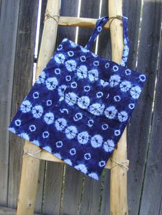 Tie Dye with Indigo Tote Bag by JoyfulBlu on Etsy
