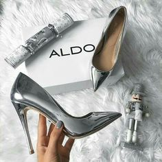 Buy Women Shoes(Order 1 size up)Metal Mania Stiletto High Heel Wedding Pumps Slip on Dance Patent Plus Size 36 - 10 cm) at Wish - Shopping Made Fun Stilettos, Women's Pumps, Stiletto Heels, Sexy Heels, Aldo Shoes, Women's Shoes, Shoe Boots, Shoes Sneakers, Shoes 2017