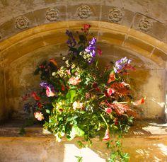 Summer church wedding decoration