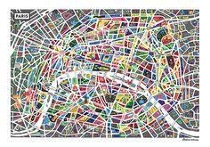 Map of Paris - Antoine Corbineau