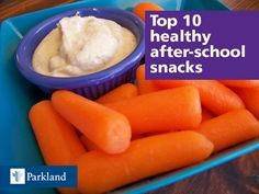 Struggling to find the right food for kids after they get home from school? Find out the top ten after-school snacks.