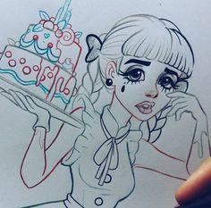 🍬~Alefvernonart~The Best Melanie Martinez FanArt! Melanie Martinez Mad Hatter, Melanie Martinez Music, Melanie Martinez Drawings, Crybaby Melanie Martinez, Cry Baby, Vernon, Art Sketches, Art Drawings, Harley Quinn