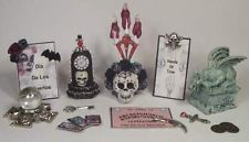 Miniature Lot Doll House Day Of The Dead Witch Halloween OOAK For Barbie PASSION