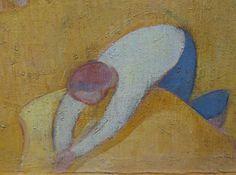 BERNARD Emile,1891 - Moisson au Bord de la Mer - Detail 10 -   « Faire une peinture d'idées au rebours de la peinture naturaliste des impressionnistes, non par contradiction, mais par besoin de mon esprit… Comment représenter les choses ? ma réponse me parut simple. Puisque l'idée est la forme des choses recueillies par l'imagination, il fallait peindre, non plus devant la chose mais en la reprenant dans l'imagination qui l'avait recueillie, qui en conservait l'idée. » (Emile Bernard)