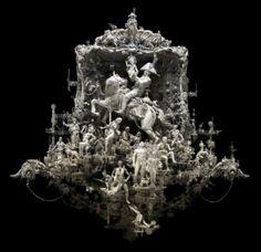 trash sculptures   Amazing Apocalyptic Trash Sculptures by Kris Kuksi