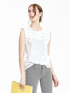 @bananarepublic sleeveless blouse
