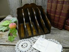 Vintage Wood Inbox - Letter Holder by allthatsvintage56 on Etsy