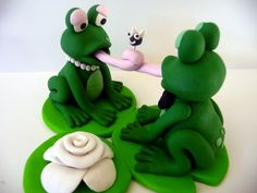 Frog Wedding Cake Topper  Made to Order by topofthecake on Etsy