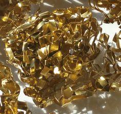 Dekogewebe Alu Gold Chandelier, Ebay, Ceiling Lights, Gold, Home Decor, Blue Green, Red Color, Christmas Decorations, Creative