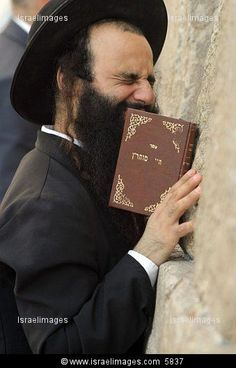 Jew praying with passion. Beautiful