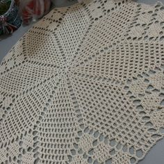 Crocheted tablecloth with graphics Crocheted tablecloth with graphics, # Crochet Crochet Bedspread, Crochet Tablecloth, Round Tablecloth, Free Crochet Doily Patterns, Crochet Diagram, Crochet Doilies, Crochet Mask, Crochet Shoes, Knit Or Crochet