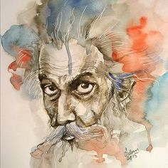 watercolor - Old man on Behance - watercolor