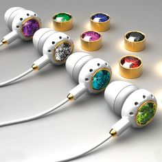 'Living Colour Earphones' by designer Csaba Hegedus