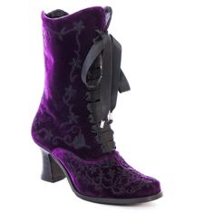 Affordable goth, victorian and steampunk clothing and corsets Boots And Braces, Purple Flats, Gothic Boots, Goth Shoes, Women's Shoes Sandals, Heels, Velvet Shoes, Unique Shoes, Crazy Horse