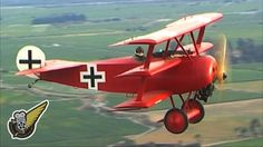 Air-to-air video of a Fokker Dr.1 Triplane, in the colours of Baron Manfred von Richthofen, Jasta 11, early April 1918. It was this aircraft (425/17) that von Richthofen was flying when he was shot down on 21st April 1918.