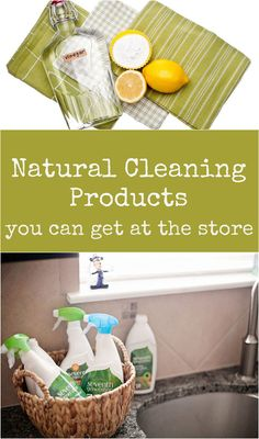 I don't always have time to make my own natural cleaning products. Here are some great natural cleaning products you can get from the store.