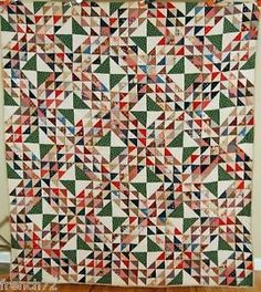 Dazzling Vintage 1880's Lady of The Lakes Ocean Waves Antique Quilt Nice Fabric   eBay