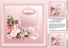 Pink Roses and Blackberries with Organza Bow match 8x8 Inser by Sue Douglas This is the matching 8in x 8in Insert Plate sheet for the Blue Roses on a Lace Doily 8in x 8in Decoupage Mini Kit design, Also included on the sheet are two smaller panels to place on to the back and the inside left of your finished card. If you would like to see the Decoupage sheet that matches this design, please go to the Related Sheets option. Instructions are included on this sheet. To see my full range of…