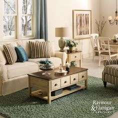 Brynn Collection | You'll love curling up on this collection—it's wrapped in the same soft, 100% cotton fabric as your favorite pair of blue jeans... love the coffee table! can't wait to have it in my living room! #myrfholiday #SweepsEntry