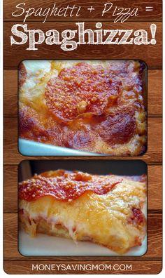 Spaghizza -- use GF pasta