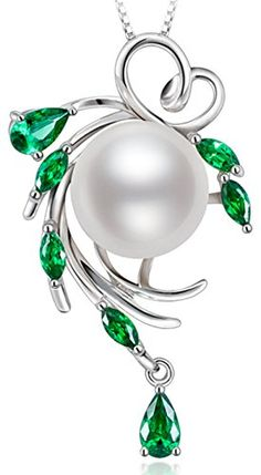 Sterling Silver Wreshwater Cultured White Pearl Pendant Necklace -- Learn more by visiting the image link.Note:It is affiliate link to Amazon.