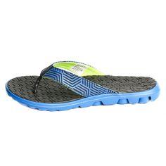 Skechers Mens casual Black/BLUE Slippers