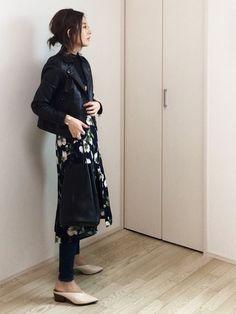 mayumi STUDIOUSのライダースジャケットを使ったコーディネート - WEAR