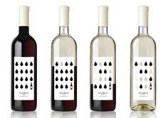Packaging de produit - Bouteille de vin avec étiquette permettant de voir la quantité de vin consommé