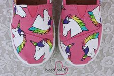 Rainbow Unicorn hand painted TOMS - Toddler & Youth Sizes  Use code PIN15 to save 15% on your entire order!