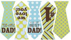 printable-father's day tie banner