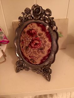 Antique picture frame pin cushion
