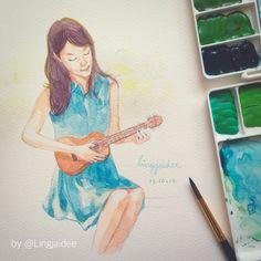 beautiful day   เขียนสีน้ำในวันอากาศดี ;) #watercolor #painting