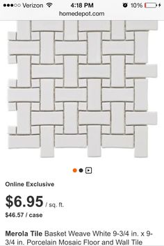 Craftsman bathroom tile options