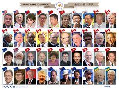 欧洲、美国、加拿大、澳洲、乌克兰、日本、韩国、香港、台湾等世界各国和地区的政要也纷纷响应,在全球形成了一股声援中国大陆民众控告江泽民的浪潮 。 - 大陆政治