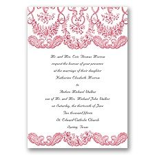 In black   Forever Flourish - Barn Red - Invite with Free Response Postcard