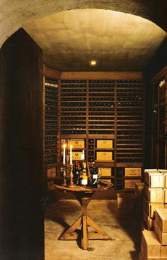 Wine cellar, Timeless Interiors by Axel Vervoordt, edited by lb for linenandlavender.net (l)