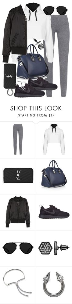 """""""Untitled #19474"""" by florencia95 ❤ liked on Polyvore featuring MaxMara, Escapology, Yves Saint Laurent, Givenchy, H&M, NIKE, 3.1 Phillip Lim, Simply Vera, Monica Vinader and Vita Fede"""