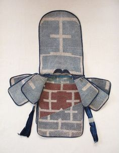 Edo period fire fighter hood. #sashiko #embroidery
