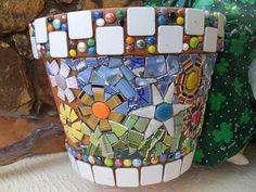 Work in progress: Quickie Mosaic Fun Flower Pot