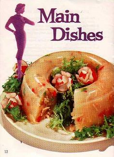 Inside Silhouette Recipes, 1959 It usually is remarkable, exactly how ingenuity {and Retro Recipes, Vintage Recipes, Ethnic Recipes, Gross Food, Weird Food, Vintage Cooking, Vintage Food, Food Fails, Food Humor