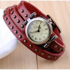 Genuine leather Rome bracelet watch. Back in stock! Hurry! Stock is very limited @Valorie Kennedy #watch #gift #vintage #bracelet  http://pict.com/p/BdC