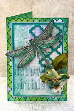 Dragonfly Card by Jan Hobbins: http://www.janhobbins.blogspot.ca/2014/06/dragonfly-card.html