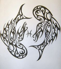 Tribal Pisces Tattoo