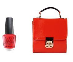 Spring Nails & Handbags: Bright Lady