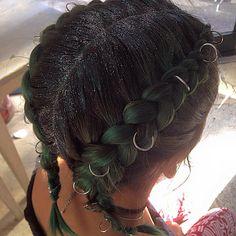 Hair rings  Glitter roots  Braid bar