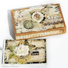 pretty vintage box and tag by Finnabair