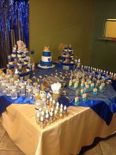 royal prince baby shower desert table