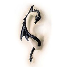 ThinkGeek's Dragon Ear Wrap Earrings. Available in Black and Pewter for $34.99.