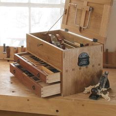 @fwmagazine's tips on tool storage for your workshop. #classicalguitar #luthier  - Tool Chest with Drawers