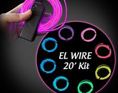EL Wire Kit - Electroluminescent Wire - Glow Wire - AA Inverter Included - Great for Burning Man! Cosplay Tutorial, Cosplay Diy, Halloween Cosplay, Cosplay Costumes, Glow Costume, Foam Costumes, Electroluminescent Wire, Neon Party, Stage Design